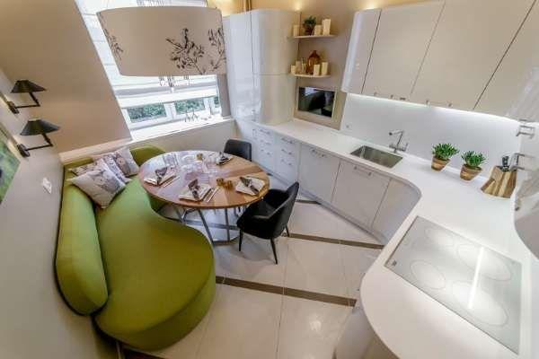 Разтегателен кухненски диван превръща стаята в уютна гостна и допълнителна спалня