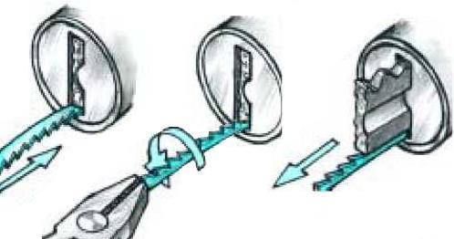 Как да извадим счупения ключ в ключалката