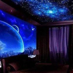 """Идеи """"Звездно небе"""" за тавана на детската стая"""