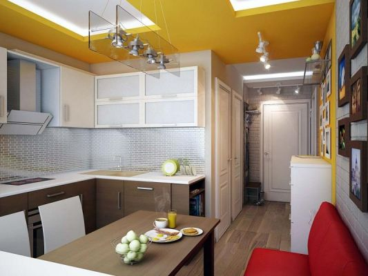 Идеи за кухни в коридор