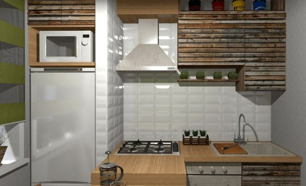 7 идеи за мястото на хладилника в малка кухня