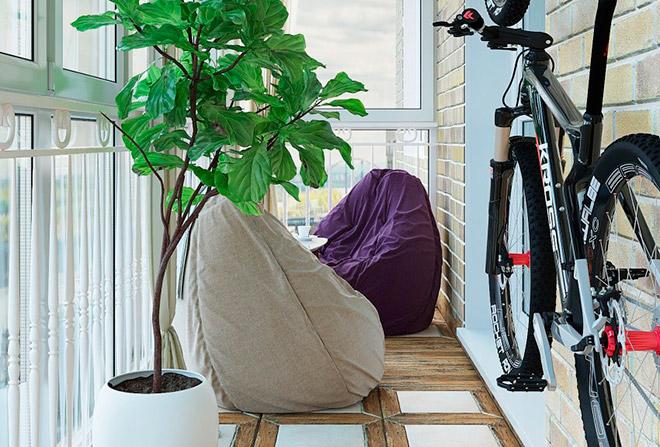 Съвети за съхранение колело на балкона