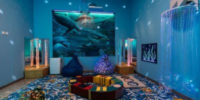 Сензорна стая за деца със СОП обзавеждане
