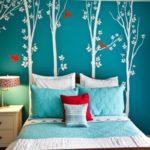 Обзавеждане за спалня в цвят тюркоаз