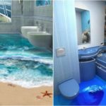 Саморазливни 3 D подове за баня – последен писък на модата в декора