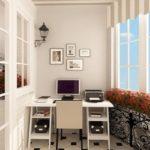 Кабинет на балкона: Как да се чувстваме като в удобен офис при няколко квадрата