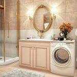 Как да разположим пералня в интериора на банята?